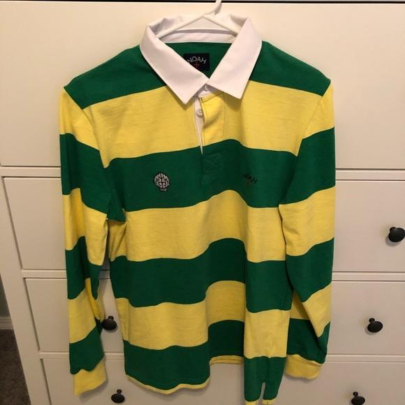 a11d0a17825 noah Shirts | Mens X Nerd Long Sleeve Rugby Shirt Size S | Poshmark